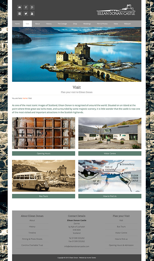 Eilean Donan Castle website design