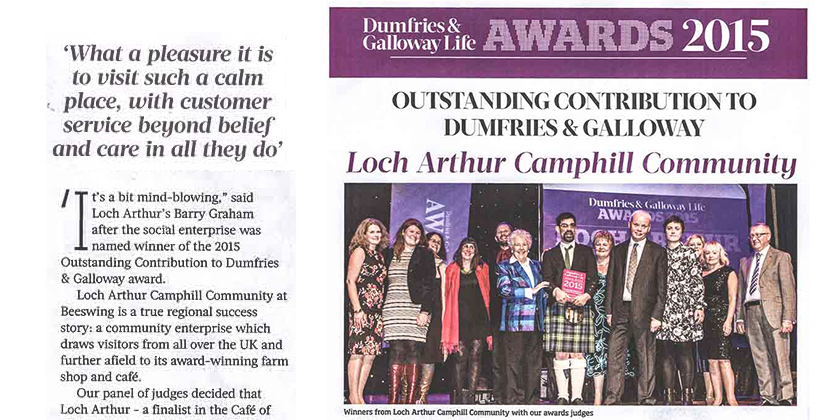 Outstanding Contribution to Dumfries & Galloway